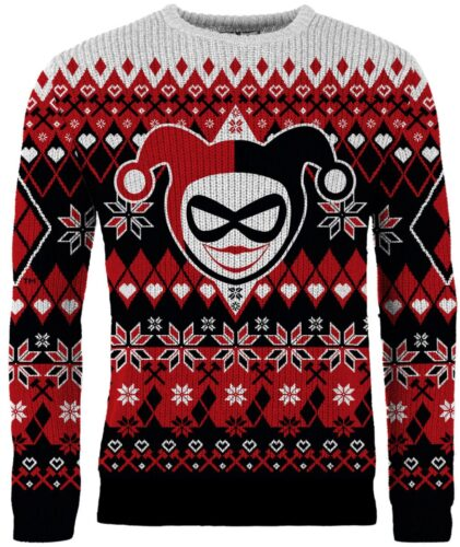 new merchoid DC ugly xmas sweater