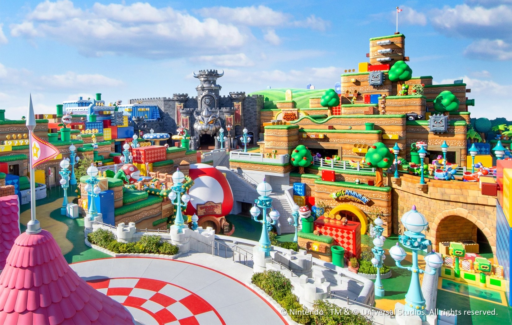 Super Nintendo World overview land