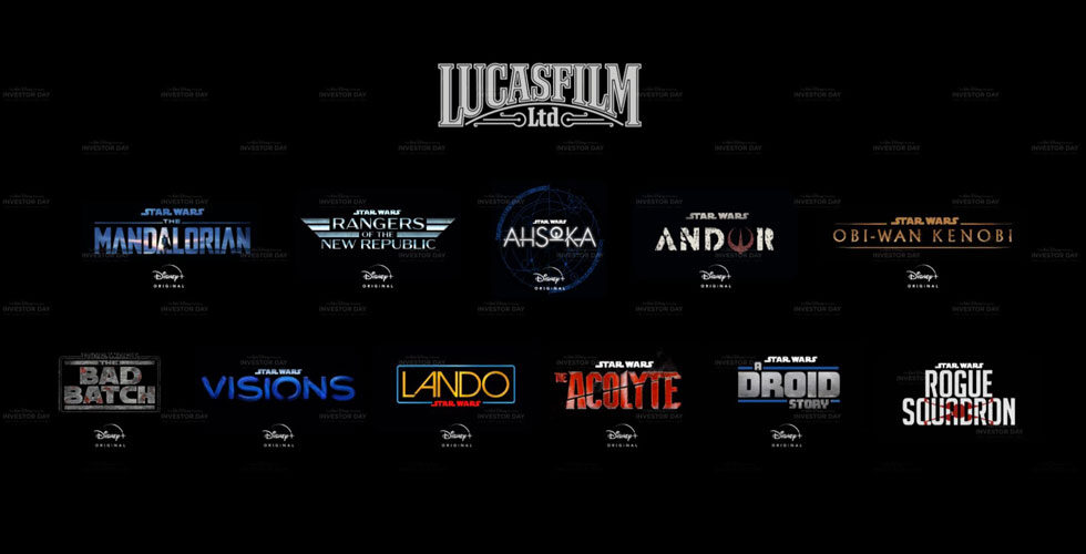 All Star Wars Movies and Disney+ Shows Announced