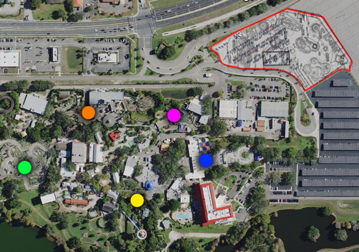 Aerial view of Legoland Florida.
