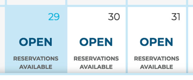 SeaWorld Orlando reservation availability.