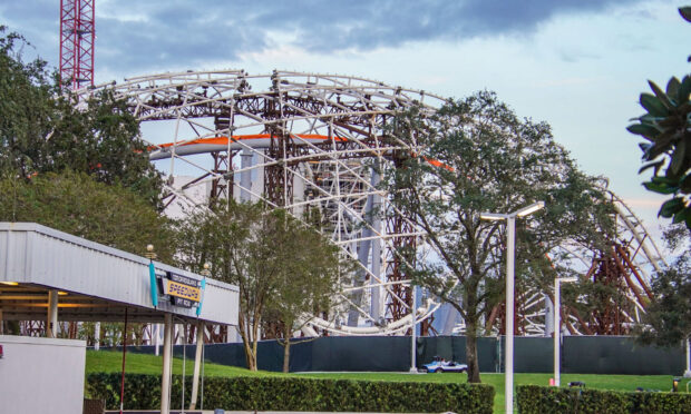 Upload Conduit roofing canopy as seen from Tomorrowland.