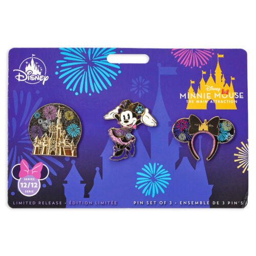 shopDisney, Minnie Mouse: The Main Attraction Nighttime Fireworks & Castle Finale, mug, pin set