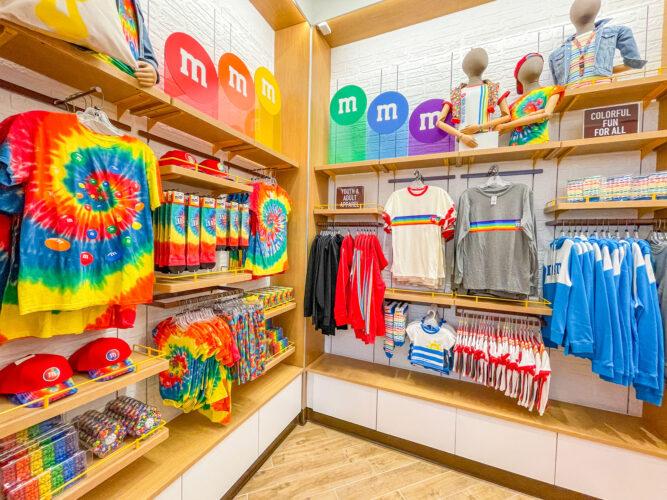 M&M'S Disney Springs rainbow merchandise