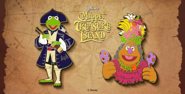 Limted-edition Muppets Treasure Island pins