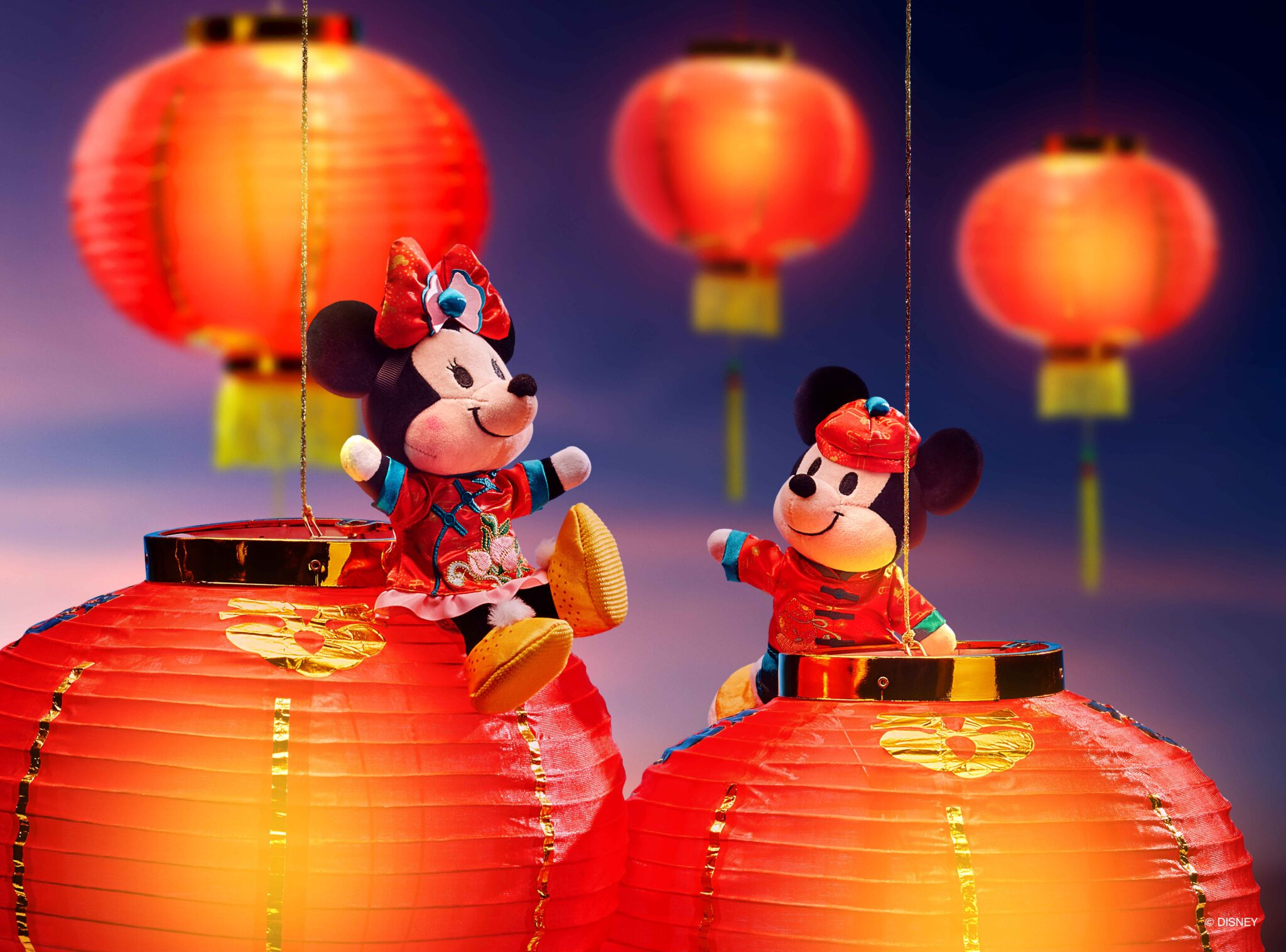 Lunar New Year, Year of the Ox, Mickey and Minnie