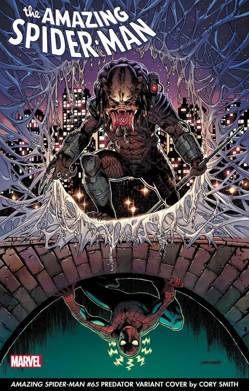Amazing Spider-Man Predator variant cover