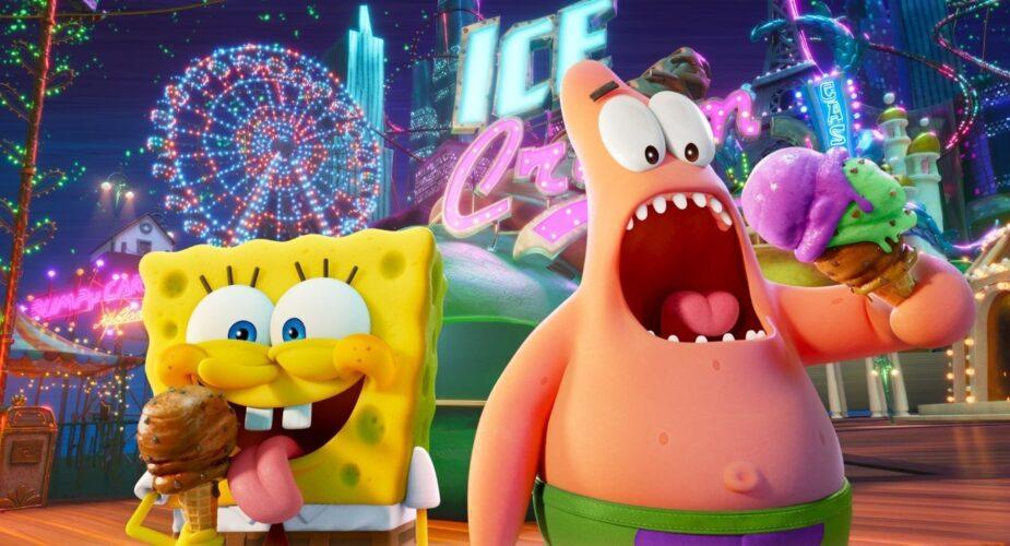 Spongebob and Patrick at an amusement park