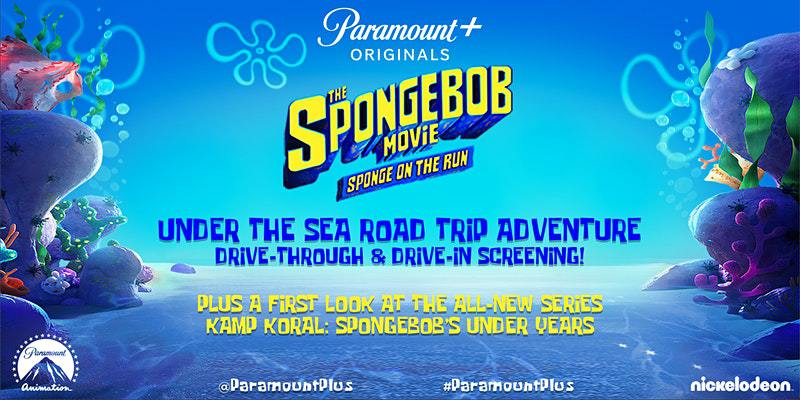 The SpongeBob Movie: Sponge on the Run Under the Sea Road Trip Adventure Drive-Through and Drive-In Screening