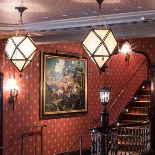 Replica of Drop Screen Painting in carthay Circle Restaurant