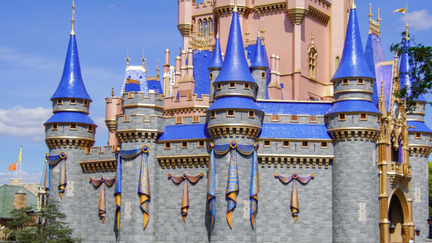 New buntings and decorations at Magic Kingdom.