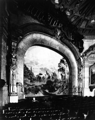 Historic Photo of the Carthay Circle Theater Drop Screen Painting