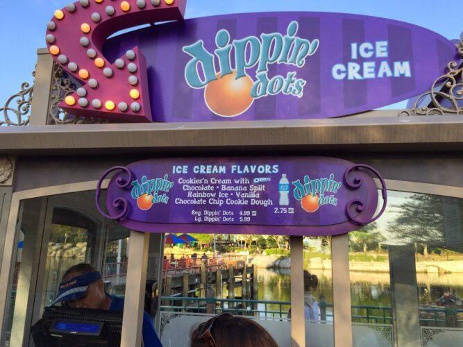 Universal Orlando Dippin' Dots menu discontinued