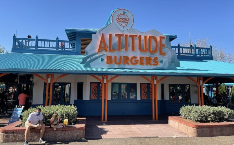 Altitude Burgers exterior at seaworld orlando