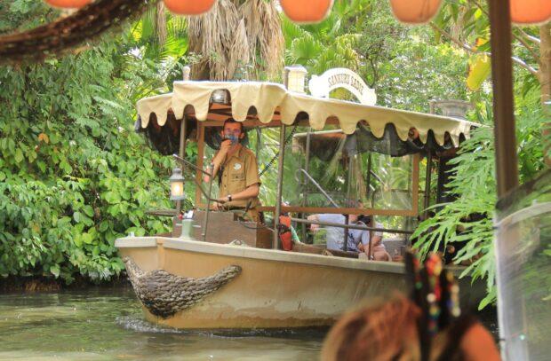 Jungle Cruise skipper and boat