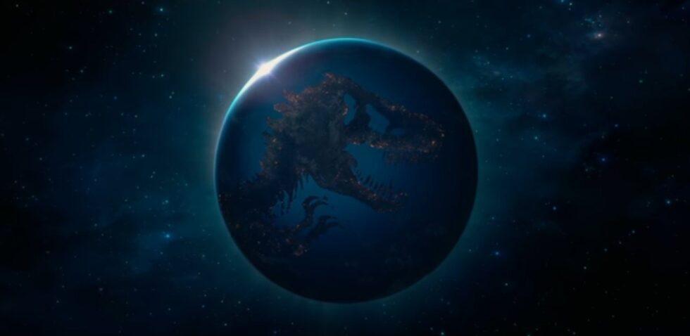 Jurassic World globe
