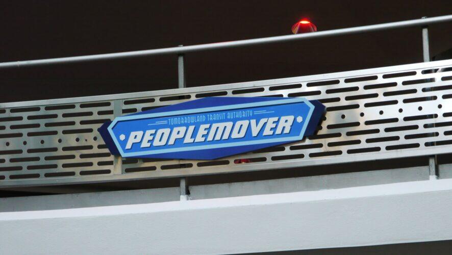 Tomorrowland Transit Authority PeopleMover signage.