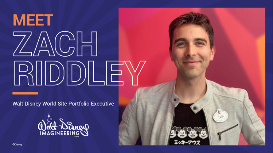 Zach Riddley's introduction graphic for the Disney Parks blog.