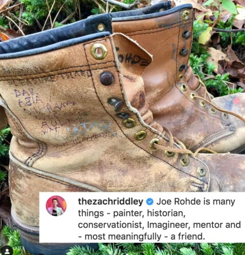 Joe Rohde shoe tribute by Zach Riddley.