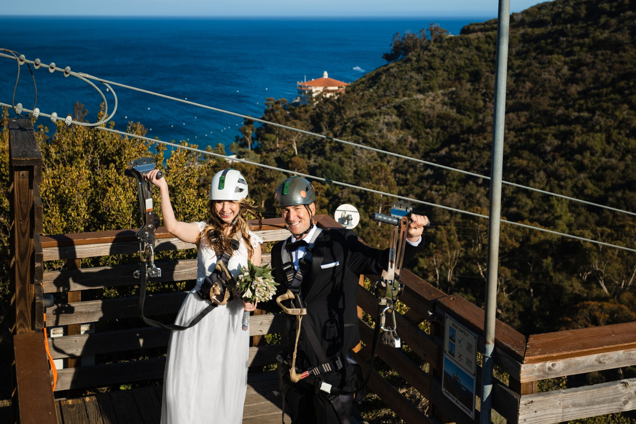 Catalina Island Company Zipline Wedding