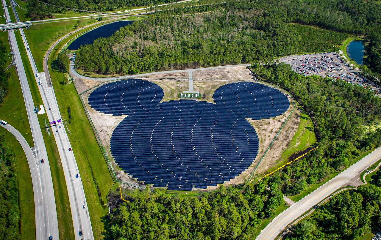 Mickey-Shaped Solar Facility at Walt Disney World