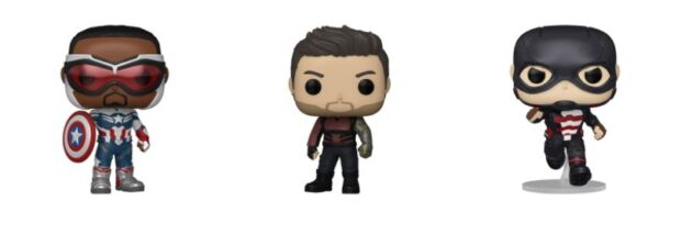 new Funko Pop! figures featuring Captain America, The Winter Soldier and U.S. Agent.