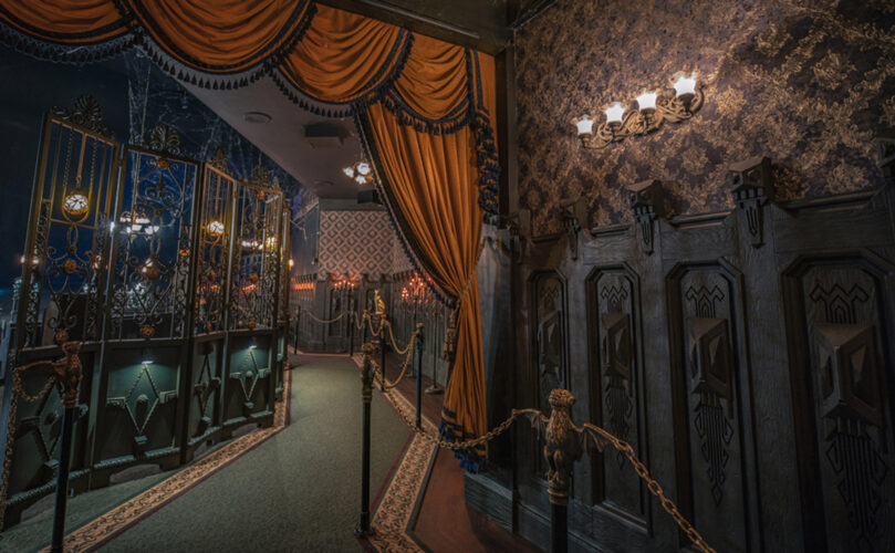 New carpet, drapes and wallpaper adorn the Haunted Mansion.