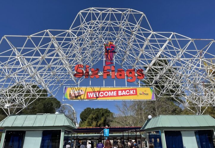 Six Flags Magic Mountain entrance.