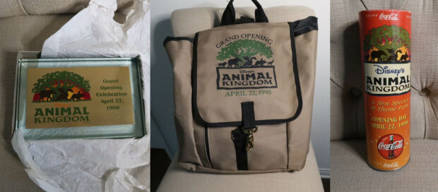 Animal Kingdom grand opening backpack listing on Ebay.