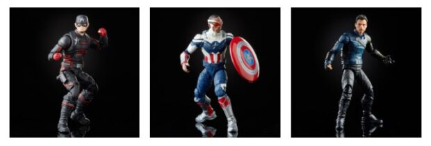 """Detailed """"The Falcon and The Winter Soldier"""" action figures by the Legend Series."""