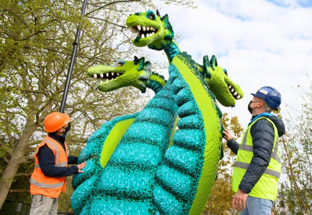 Legoland Windsor Lego Mythica World of Mythical Creatures Dragon