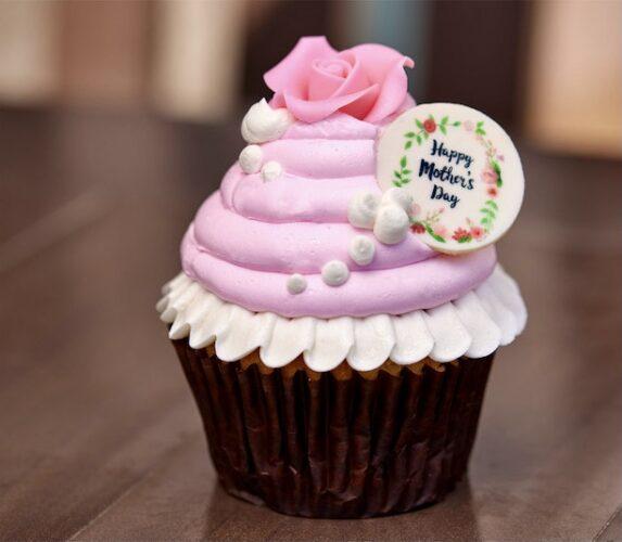 Mother's Day red velvet cupcake