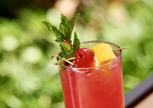 Polynesian Strawberry Lemonade cocktail