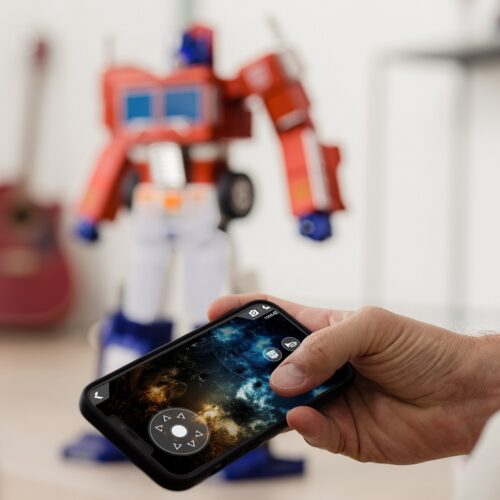 Voice command Transformers robot and app
