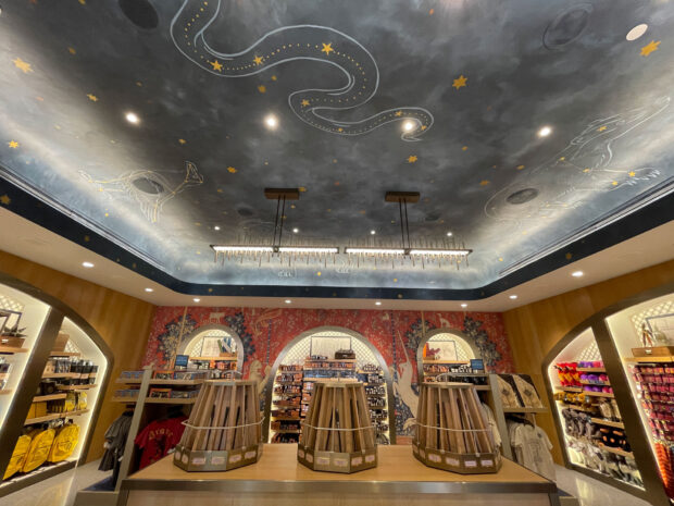 Wand area in the back of the Universal Studios Store.