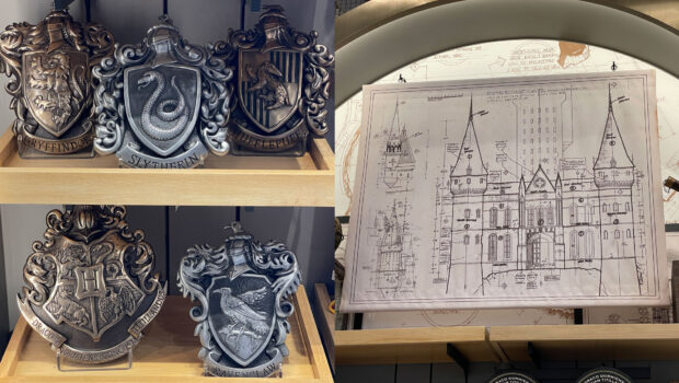 Close up look at the Harry Potter and Wizarding World details.