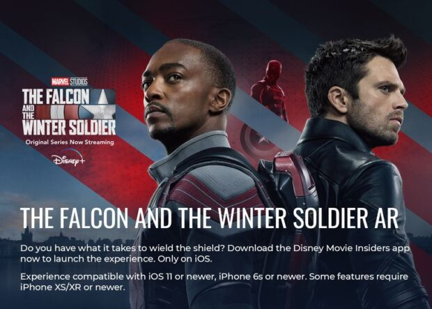 Train like Captain America in Disney Movie Insider's newest AR.