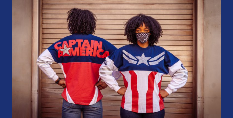 Salute the newest Captain America in this new Spirit Jersey.