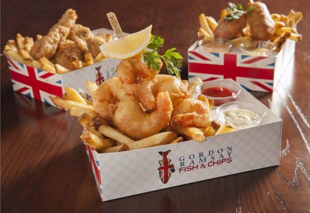 Gordon Ramsay fish and shrimp meals