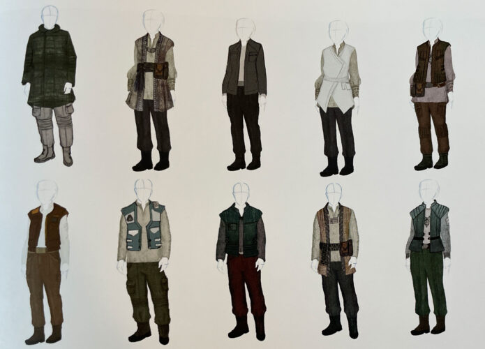 Cast member outfits for citizen of the Black Spire Outpost on Batuu.