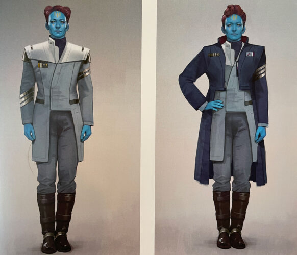 Concept art for crew of the Halcyon, the Star Wars Galactic Star Cruiser hotel.