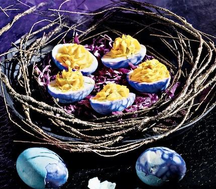 Disney Halfway to Halloween recipe - Deviled Eggs