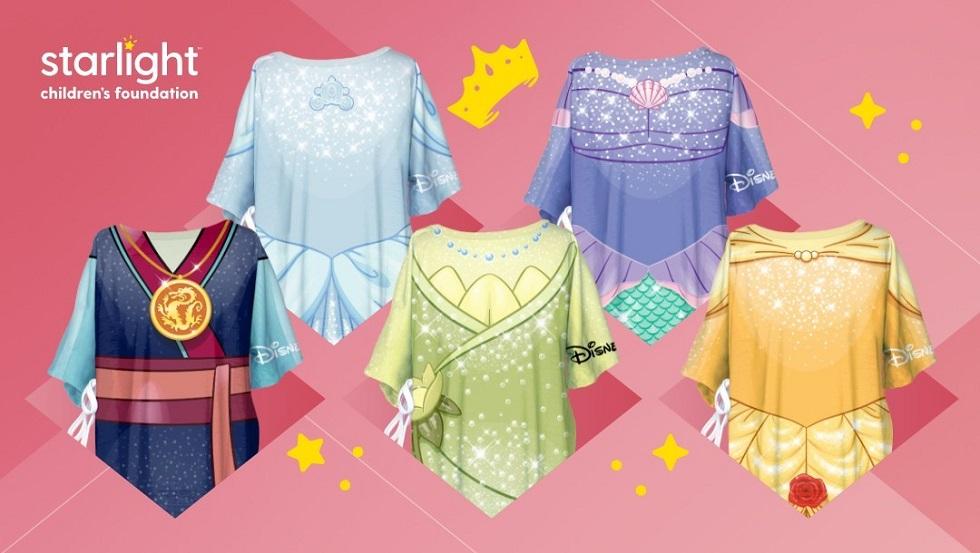 Disney princess themed hospital gowns
