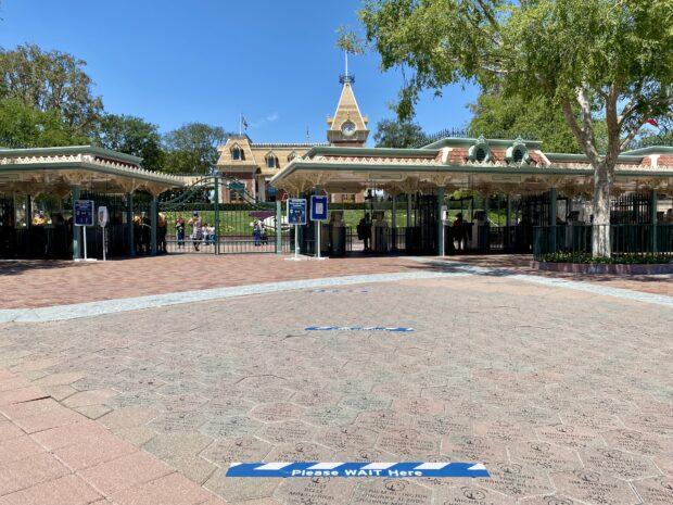 Disneyland Distancing Floor Marker