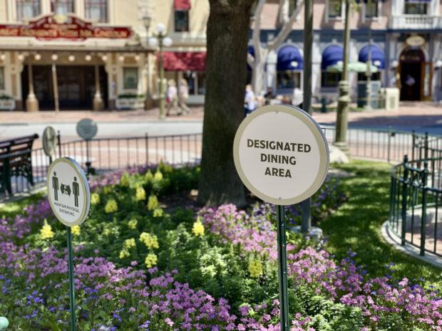 Disneyland Designated Dining Area Sign