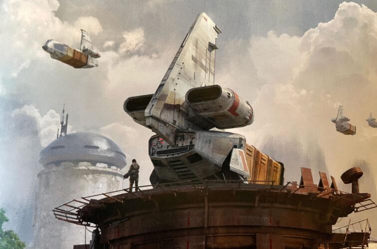 Docking Bay 7 ship concept for Star Wars Galaxy's Edge.