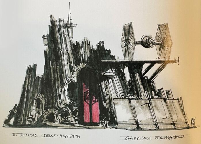 Tie Fighter Garrison Concept for Star Wars Galaxy's Edge.
