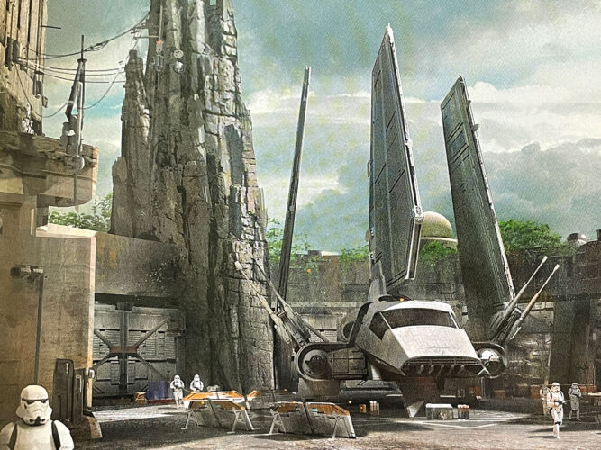 Imperial Shuttle concept for Star Wars Galaxy's Edge.