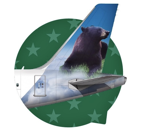 Frontier Airlines tail campaign - Ella