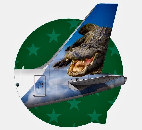 Frontier Airlines tail campaign - Larry